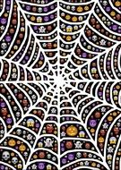 halloween spiderweb drawing