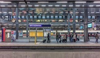 Picture of the railway station in Berlin