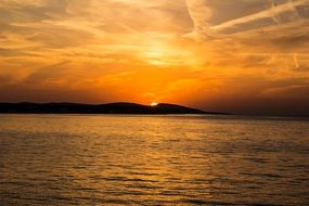 sunset on the Croatia coast