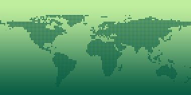 green image international map of the world
