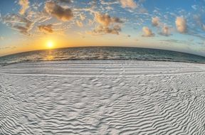 white sand beach panorama