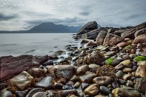 Rocky beach in Scotland