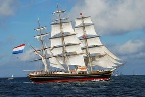 tall clipper ship sailing