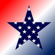 american patriotic red white blue star