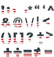font template American flag style