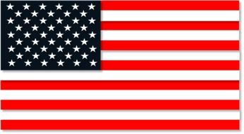 USA flag with 50 stars