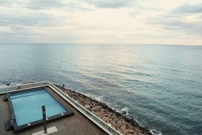 seaside swimming pool
