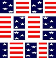 Stars and stripes clipart