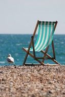 deckchair seaside sea coast