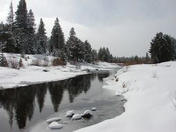 winter scape of the river