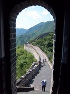 famous great wall of china summer view