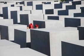 red haired girls in The Memorial to the Murdered Jews of Europe, germany, berlin