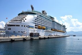 luxury cruise ship in port, ajaccio