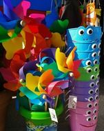 colorful plastic children toys