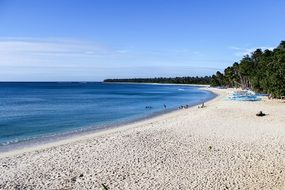 white sand at pagudpud beach in philippines