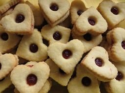 christmas heart-shaped cookies