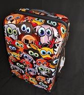 colorful suitcase cover