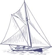 illustration of the yacht
