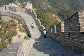 the great wall tourism climbing view