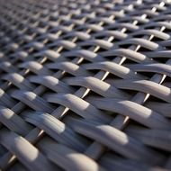 A piece of woven beach chair