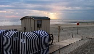 Registry office is on the beach in Norderney