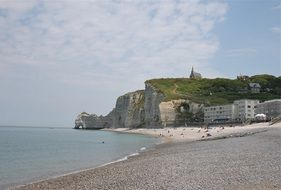 panoramic view of the rocky coast of france