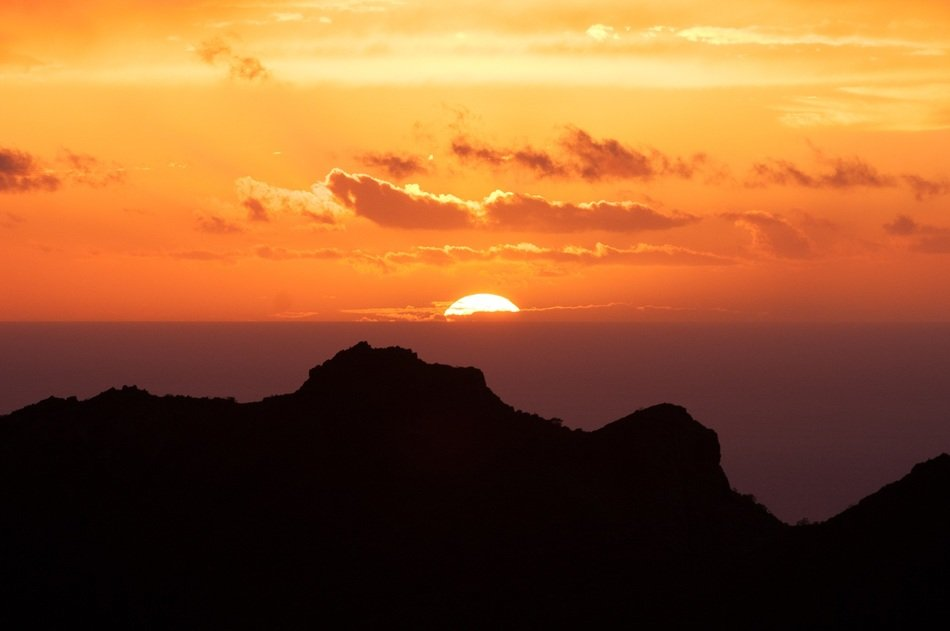 Canary Islands Tenerife sunset