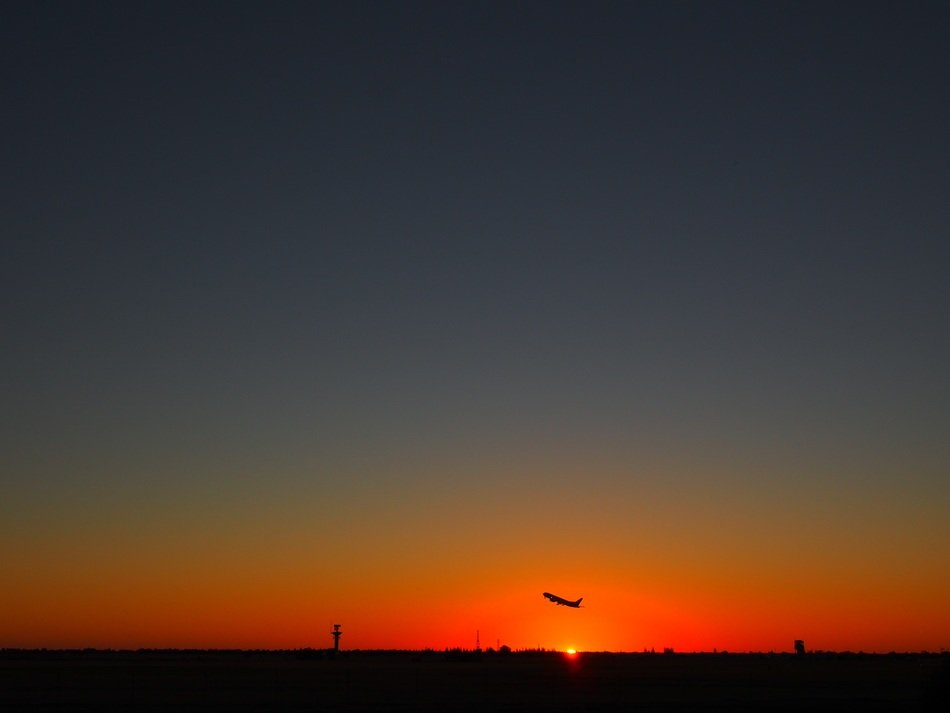 Sunset in Adelaide Airport