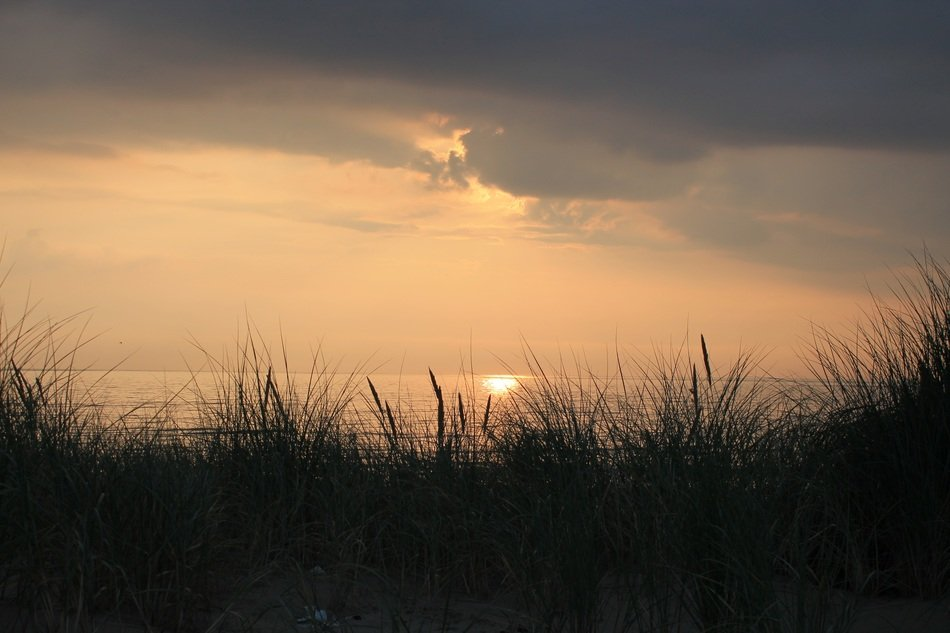 Sunset and dunes