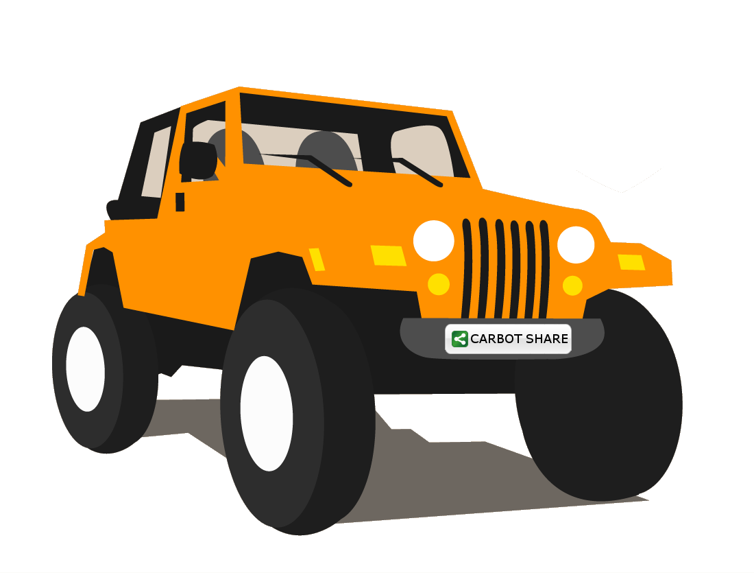 Clipart Of The Cartoon Jeep Free Image
