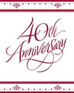 invitation to the 40th anniversary