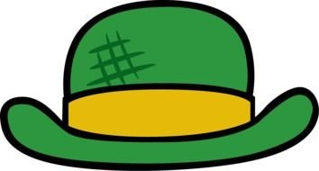 Green Hat as a graphic image