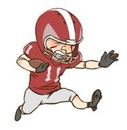 cartoon American Football player