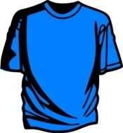 Blue T-shirt drawing