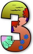 Creation Days Numbers 2 Vector clipart