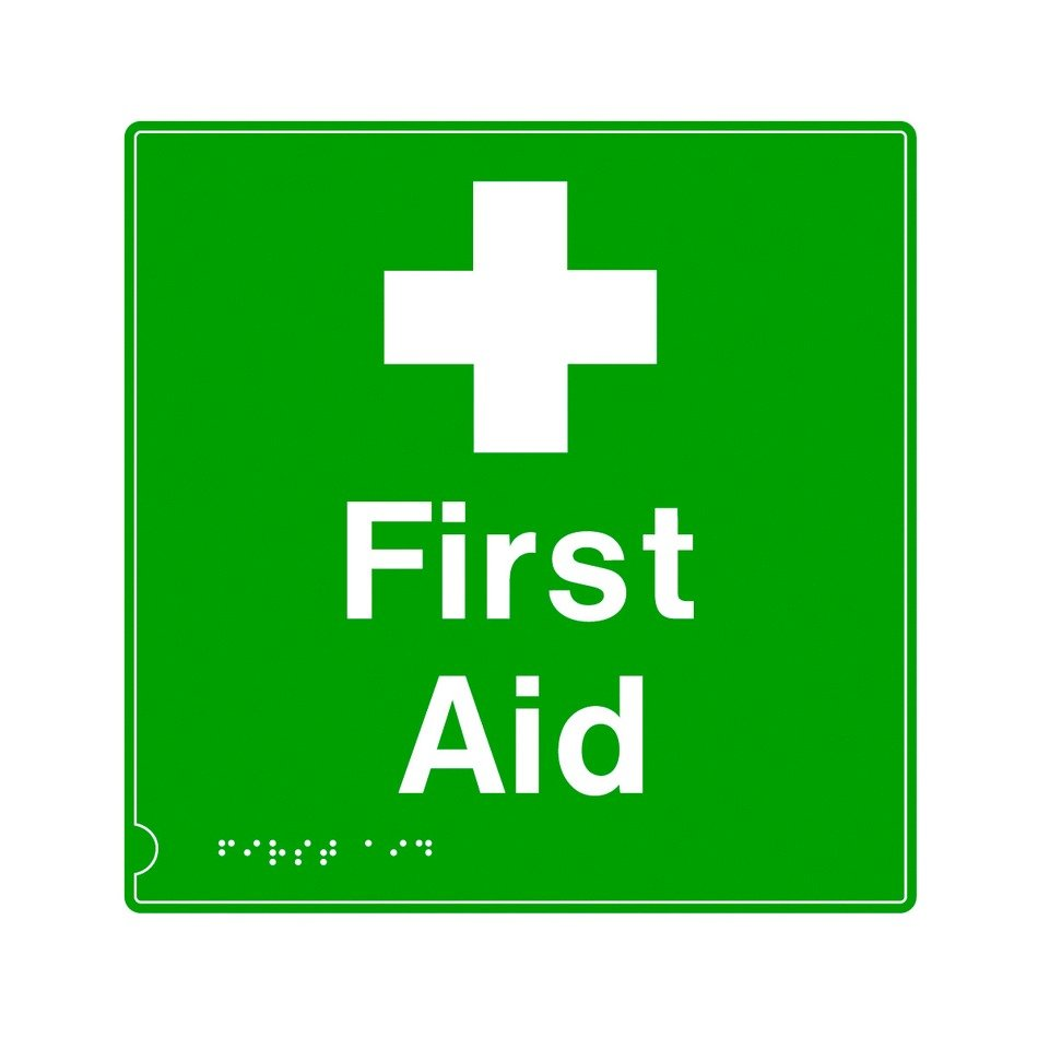 green first aid sign