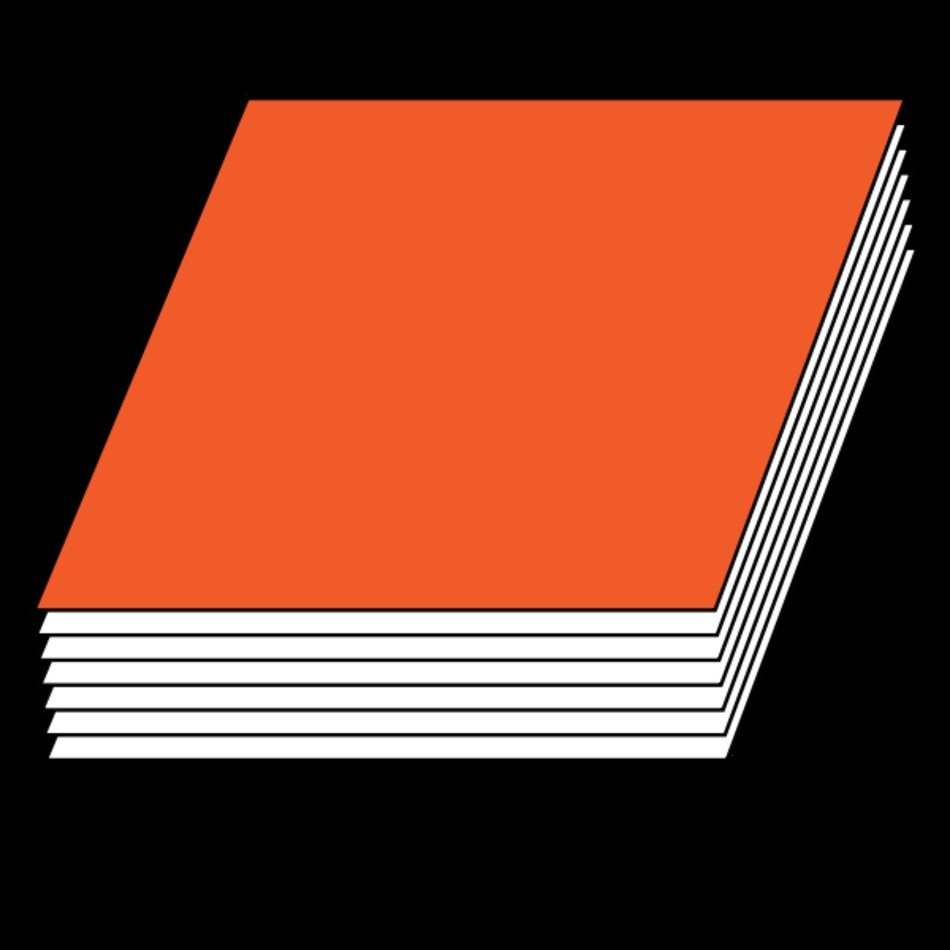 orange book on the black background