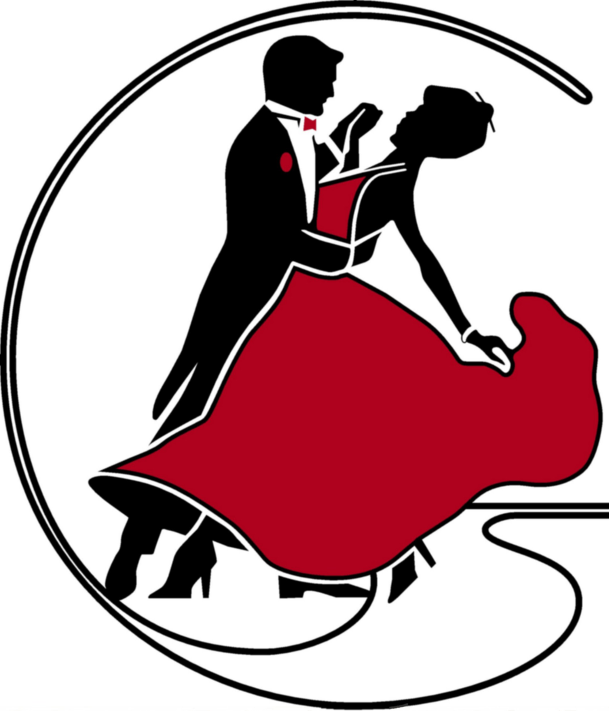 Ballroom Dance Logo Drawing Free Image