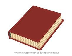 Red closed book clipart