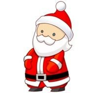 cartoon Santa, isolated