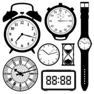 Clip art of the digital clocks