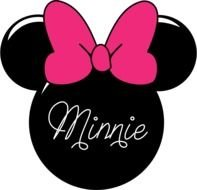 silhouette of minnie mouse head with pink bow