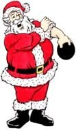 santa claus strongman as a graphic image