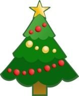 Clipart Christmas Tree Png Green Simple