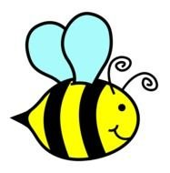 cartoon flying bumble bee