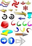 Different colorful arrows clipart