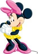 painted Minnie with a pink bow