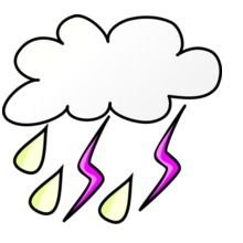 Weather Symbols Storm Color Variation B clipart