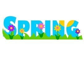 """Spring is here"" clipart"