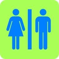 Colorful toilet sign clipart
